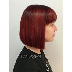 Deep root cherry red 🍒 #hairbykalli #hairstylist #hairstyle #haircut #hairlove #hairnerd #vancouver #vancouverhair #vancouverhairstylist #vancouverhairlove #hairdresser #cherryred #red #cherry #otfmain #mainstreet #mainstreethairstylist #bluntbob #cleanlines #love #lovemyjob #xoxo #joico #joicocanada #ihavecoolclients #brightcolours #vancouvercolourist