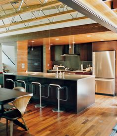 1970's split-level remodel -- Edstrom Residence, Milwaukee, Wisconsin, 2009. by Johnsen Schmaling Architects