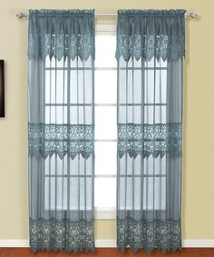 Look what I found on #zulily! Blue Valerie Macrame & Voile Panel #zulilyfinds