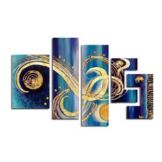 You'll love the Abstract 5 Piece Original Painting on Canvas Set at Wayfair - Great Deals on all Décor  products with Free Shipping on most stuff, even the big stuff.