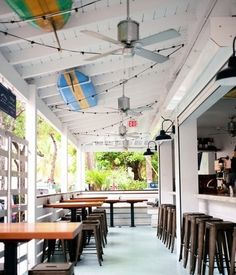 The Longboard restaurant and bar in Cruz Bay, St. John, USVI. Coastalliving.com