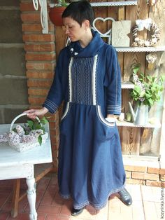 """Купить Бохо-образ """"Тайна ночи"""" - темно-синий, однотонный, платье бохо, бохо-стиль"""