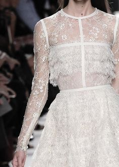 Soft Elegance - layered lace dress with structured bodice