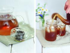 Black Tea, Coconut Milk and Mason jars! Such a good combination!