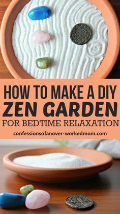 This DIY Zen Garden is a relaxing way to unwind at the end of the day for both adults and kids. It's part of a relaxing bedtime routine.