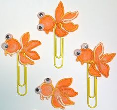 So cute! Goldfish paperclips