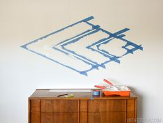 DIY Painted Diamond Focal Wall vintagerevivals.com-22