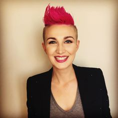 What do you think of her cut and color? Short Hair Mohawk, Mohawk Hairstyles For Women, Short Punk Hair, Girl Short Hair, Cool Hairstyles, Short Hair Styles, Short Haircut, Cute Haircuts, Girl Haircuts