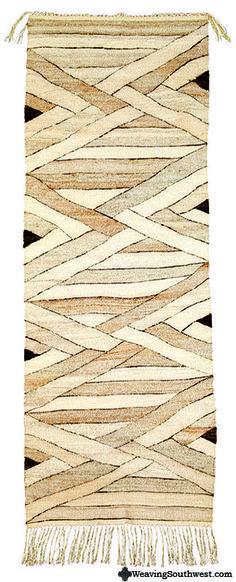 "Interweave White by Rachel Brown, 72"" x 26"", handspun natural wool, 1984"