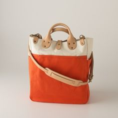 Canvas Utility Bag - Large Orange made in Denver, surely worth the price tag: a steep $298 www.schoolhouseelectric.com