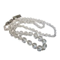 Givenchy Deadstock 70s Crystal Bead Opera Length Necklace from Morning Glorious Vintage