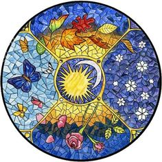 What's Coming in October, November, and December 2019 And also the Vernal Equinox down under! The Autumnal Equinox occurs at am PDT, am BST September This marks the end of Summer and… Mosaic Crafts, Mosaic Projects, Mosaic Art, Mosaic Glass, Mosaic Tiles, Quilt Corners, Autumnal Equinox, Vernal Equinox, Hippie Art