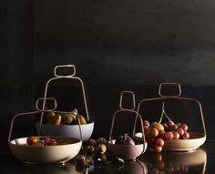 Coupe Muselet / Ø 29 cm - Poignée cuivre Abricot - Incipit - Décoration et mobilier design avec Made in Design