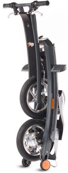 Stigo fast folding electric scooter- 25km/h, 13.5kg, 250W, 45x40cm footprint folded, 30km range - S$1,7999