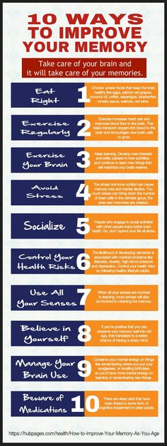 Mental decline is quite common among seniors. But it is possible to maintain a sharp mind as you age. Read about the 10 ways you can improve your memory and keep your brain healthy as you age. Health And Wellbeing, Health And Nutrition, Health Tips, Health Fitness, Brain Memory, Brain Facts, Life Hacks, Learning Techniques, Brain Health
