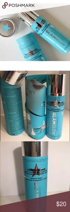 GLAMGLOW Thirstycleanse Daily Treatment Cleanser GLAMGLOW Thirstycleanse Daily Treatment Cleanser 5 oz/150g NEW A daily cleanser that combines the power of mud and the power of foam for a super-hydrated, super-clean complexion. Who it's for: All skin types. glamglow Makeup