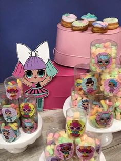 The centerpiece at this LOL Surprise Dolls birthday party i Dessert Table Birthday, Birthday Desserts, 6th Birthday Parties, Party Desserts, Birthday Party Decorations, Dessert Tables, Surprise Birthday, 8th Birthday, Clem