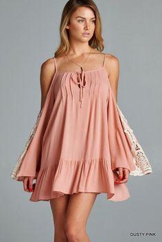 Tiffany Bell Sleeve Lace Tunic Dress Boho Muoti 79bb70e4d5