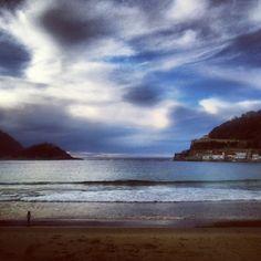 Playa de La Concha, un día con nubes (Donosti-San Sebastián)