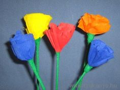Anyák napja - Krepp-papír virág - diy
