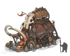 Hunter Lodge, Stoyan Stoyanov on ArtStation at https://www.artstation.com/artwork/d9aQ