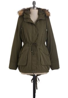 Scooter or Later Coat in Olive, #ModCloth