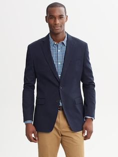 In a more casual industry, something like this Banana Republic Tailored Fit Elbow Patch Blazer  is perfectly suitable to wear for a job inte...