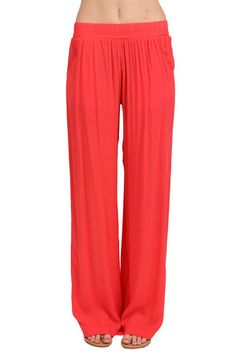 The Elastic Pant in Coral by Elan from MFredric.com
