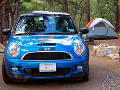 Tuck In Time folks and we close on a beautiful blue MINI Cooper S with its lil tentage Goodnight guys n gals