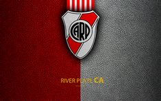 Download wallpapers Club Atletico River Plate, 4k, logo, Buenos Aires, Argentina, leather texture, football, Argentinian football club, River Plate FC, emblem, Superliga, Argentina Football Championships, First Division