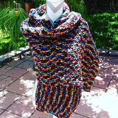http://ift.tt/1NRSgsY #gifts #giftshop #giftsforher #etsyonsale #giftideas #crochetaddict #multicoloredwrap #multicolored #fallfashion #fashionista