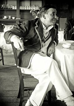 That Is Tea Gentlemen  A wistful shot of Walter Hammond circa 1940, when afternoon tea meant a fag, a cuppa and very little analysis.