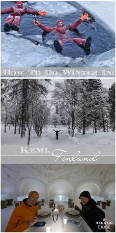 Dine and sleep in a snow castle, ride an ice-breaking boat in the bay, and take a dip in the frosty waters of the Bothnian Sea, this how people in Kemi, Finland embrace winter!
