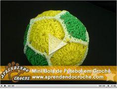 Aprendendo Crochê: Bola de Futebol em Crochê