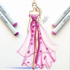 How to Draw a Fashionable Dress - Drawing On Demand Dress Design Sketches, Fashion Design Drawings, Fashion Sketches, Fashion Drawing Dresses, Fashion Illustration Dresses, Fashion Illustrations, Fashion Sketchbook, Fashion Art, Fashion Models