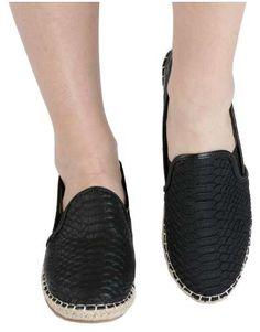 ΝΕΕΣ ΑΦΙΞΕΙΣ :: Εσπαντρίγιες Glamour Touch Black - OEM Espadrilles, Glamour, Flats, Gold, Shoes, Fashion, Espadrilles Outfit, Loafers & Slip Ons, Moda