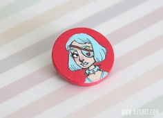 Hand painted brooch  one of a kind brooch  by LoveTeacupKisses, $20.00