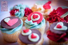 Lovely Platter of Valentine's Cupcakes