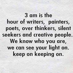 Its what we do. And to think, i have to get up at 4:30 am to get ready for work. Certain people and things in life inspire me in ways that just gives me that type of energy. Its nothing!