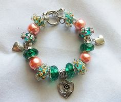 Emerald Isle European Style Charm Bracelet by BlingItOutLoudCharms