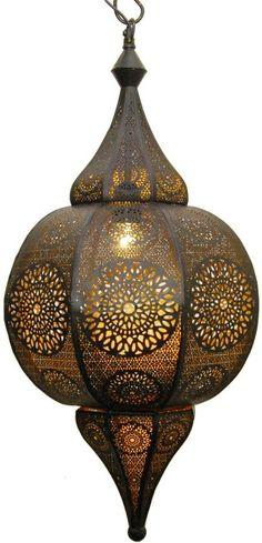Hanglamp zwart/goud arabisch/orientaals 66x32cm Land, Ceiling Lights, Lighting, India, Home Decor, Rajasthan India, Light Fixtures, Ceiling Lamps, Lights
