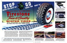 Vintage Tyre Firestone Advert  ::::::::::::::::::::::::::::::::::::::::::::::::::::::::::::::::::::::: My ETSY Shop: https://www.etsy.com/ie/shop/AncientPastArt?ref=l2-shopheader-name