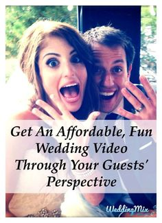 Every couple can now afford a beautiful wedding video! Use the @WeddingMix app and HD cameras to collect every guest photo & video. Then pro-editors turn your favorite moments into a fantastically fun wedding video! Perfect for any wedding budget.