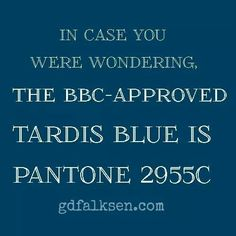 I was wondering. Now I can paint my bookcase like the TARDIS!