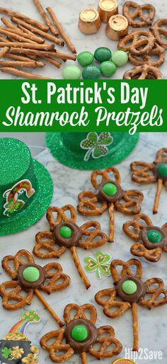 4-Ingredient Easy Shamrock Pretzel Treats for St. Patrick St Patrick Day Snacks, Holiday Snacks, Holiday Ideas, Holiday Recipes, Holiday Gifts, Holiday Dinner, Spring Recipes, Holiday Fun, Holiday Decor