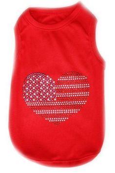 Parisian Pet USA Flag Dog T-Shirt, Large >>> Don't get left behind, see this great dog product : Dog shirts