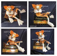 coole Katze aus Wolle .... mit einem sonnigen Gemüt
