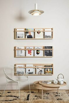 Porte revue mural niouz citation pinterest for Porte revue ikea