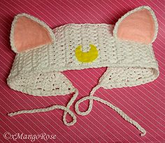 Inspired Sailor Moon headband pattern for Artemis and Luna cat.