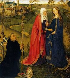 Jacques Daret. Visita ad Elisabetta. 1435 Olio su una tavola di quercia. La galleria d'arte, il Museo statale di Berlino - Museo del patrimonio culturale prussiano